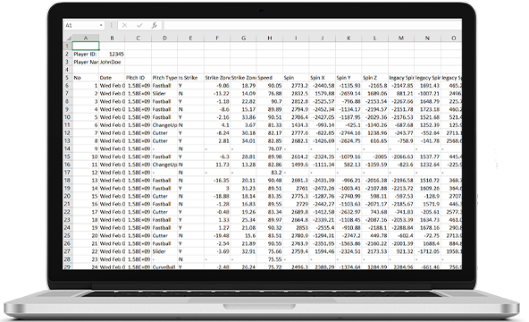 Rapsodo CSV download from Cloud
