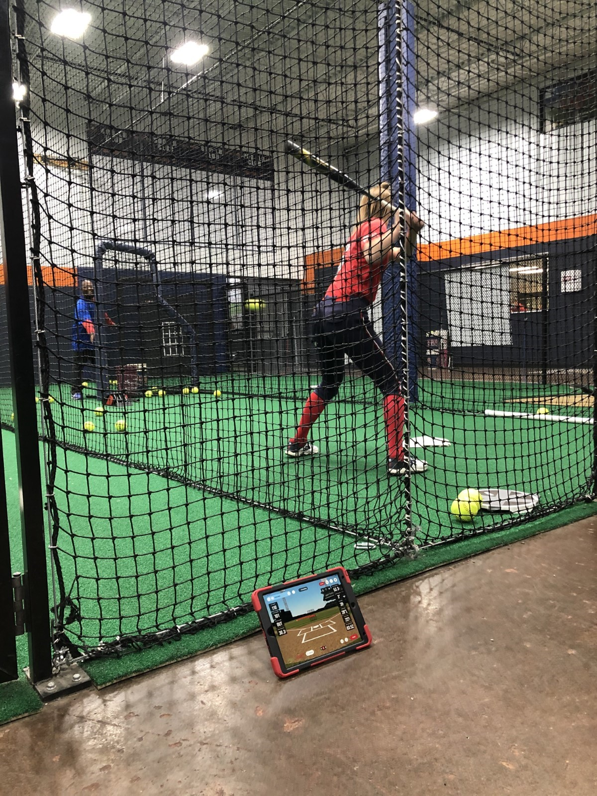 Marty Tyson at St. Louis CHAOS camp using Rapsodo HITTING 2.0